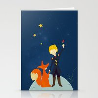 le petit prince Stationery Cards featuring Le petit prince by LaFilleCoquette