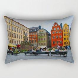 Stortorget Square in Gamla stan - Stockholm Rectangular Pillow