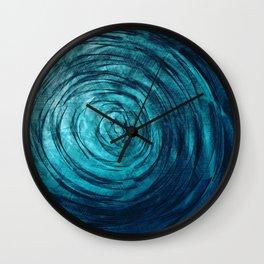 Sapphire Vortex Wall Clock