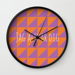 i love you in swedish Wall Clock