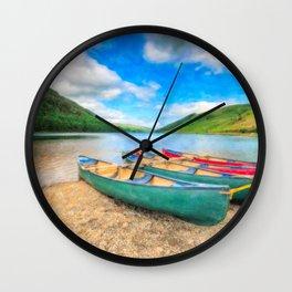 Geirionydd Lake Canoes Wall Clock
