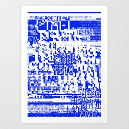 Pixel Reto Art Print