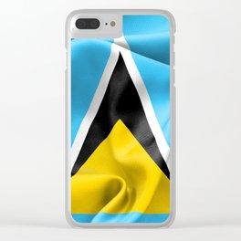 Saint Lucia Flag Clear iPhone Case