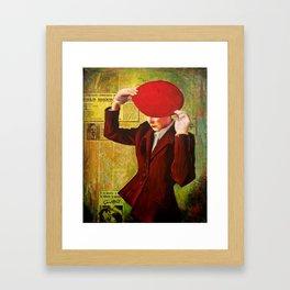 Red Beret Framed Art Print