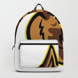 Belgian Malinois Dog Mascot Backpack