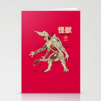 kaiju Stationery Cards featuring Kaiju Anatomy by MeleeNinja