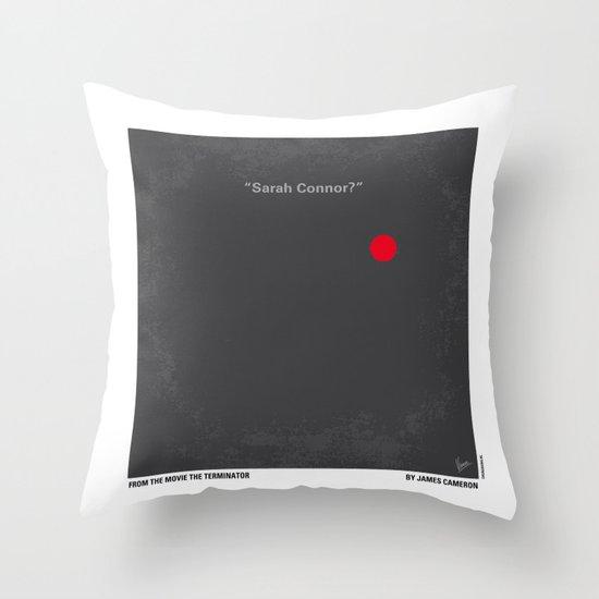 No199 My Terminator minimal movie poster Throw Pillow