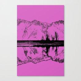Knik River Mts. Pop Art - 5 Canvas Print