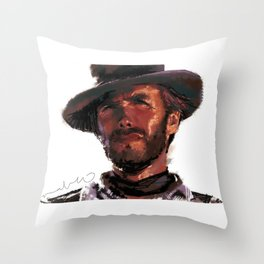 The Good - Clint Eastwood Throw Pillow
