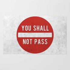 you shall not pass Rug