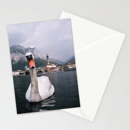 Swan on Lago di Como - Landscape and Nature Photography Art Print Art Print Stationery Cards