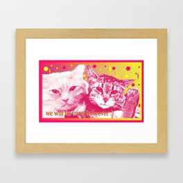 good friends Framed Art Print