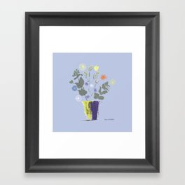 Floral Bouquet with Dylan's Daisies Framed Art Print