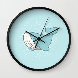 lou, the whale Wall Clock