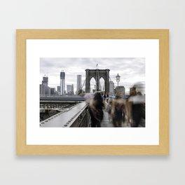 BKLYN bridge Framed Art Print