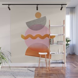 Abstraction_SHAPE_Playful_Minimalism_003 Wall Mural