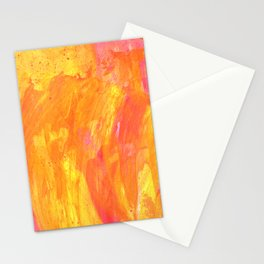 Sunny Yellow Vibes Abstract Version 2 Stationery Cards