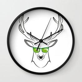 cool deer Wall Clock
