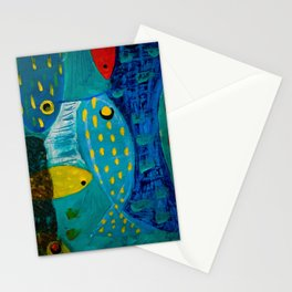 Fish meeting Stationery Cards