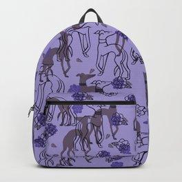 Purple greyhounds Backpack