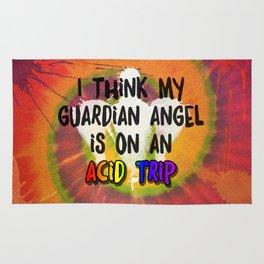 I Think My Guardian Angel Is on an Acid Trip Rug