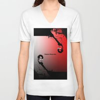 stephen king V-neck T-shirts featuring Stephen King Rules by Hazel Bellhop