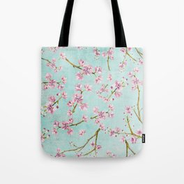Spring Flowers - Cherry Blossom Pattern Tote Bag