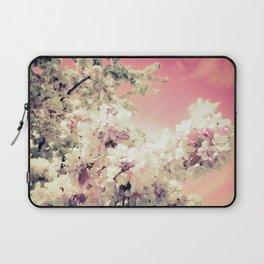 Pink Lavender Flowers Laptop Sleeve