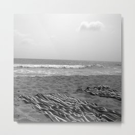 Beach Towels, Santa Monica Metal Print
