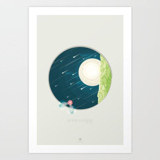 Where nature ends Art Print