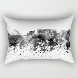 Athens skyline in black watercolor Rectangular Pillow