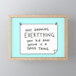 Space to Grow is a Good Thing Framed Mini Art Print