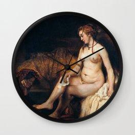Rembrandt - Bathsheba at Her Bath Wall Clock