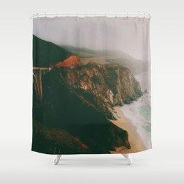 Bixby Creek Bridge, Big Sur, California Shower Curtain