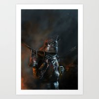 warhammer Art Prints featuring Sigmar Protects by Meimei