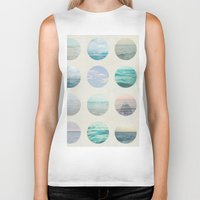 polka Biker Tanks featuring Ocean Polka dot  by Pure Nature Photos