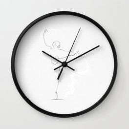 'Poise', Dancer Line Drawing Wall Clock