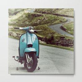 Lambretta Mountain Pass Metal Print