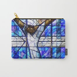 African American Portrait Painting of the Wales window at the 16th Street Baptist by Jeanpaul Ferro Carry-All Pouch
