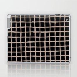 Strokes Grid - Nude on Black Laptop & iPad Skin