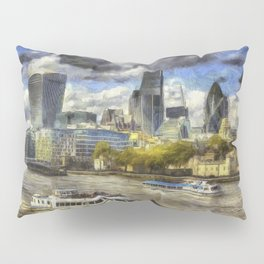 The River Thames And City Art Pillow Sham