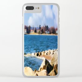 New England Shoreline - Painterly Clear iPhone Case