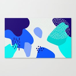 Blue abstract pattern Canvas Print
