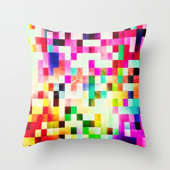 GROWN UP PIXELS Throw Pillow