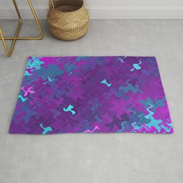 Pink, Purple, and Blue Waves Rug