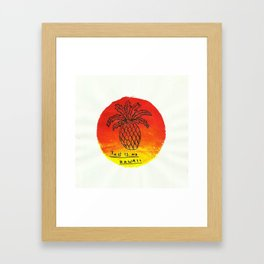 THIS IS NO HAWAII Framed Art Print
