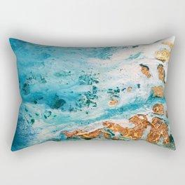 Sea and golden sand Rectangular Pillow