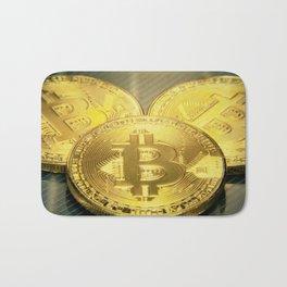 Bitcoins macro big round mojo Bath Mat