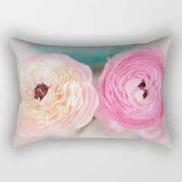 ranunculus pink flowers Rectangular Pillow