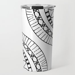 Bohemian Circle Sketch Travel Mug
